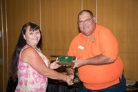 Conrad honored at state volunteer leader conference